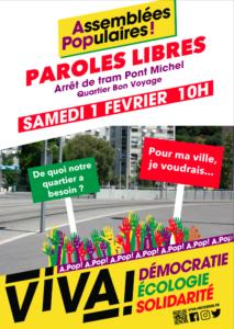 Assemblée Populaire - Roquebilière / Bon Voyage @ Tram Pont Michel