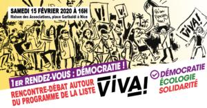Rencontre-débat autour du programme ViVA! - Démocratie @ Maison des Associations