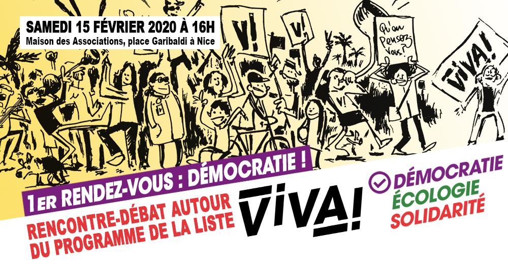 Rencontre-débat autour du programme ViVA! – Démocratie