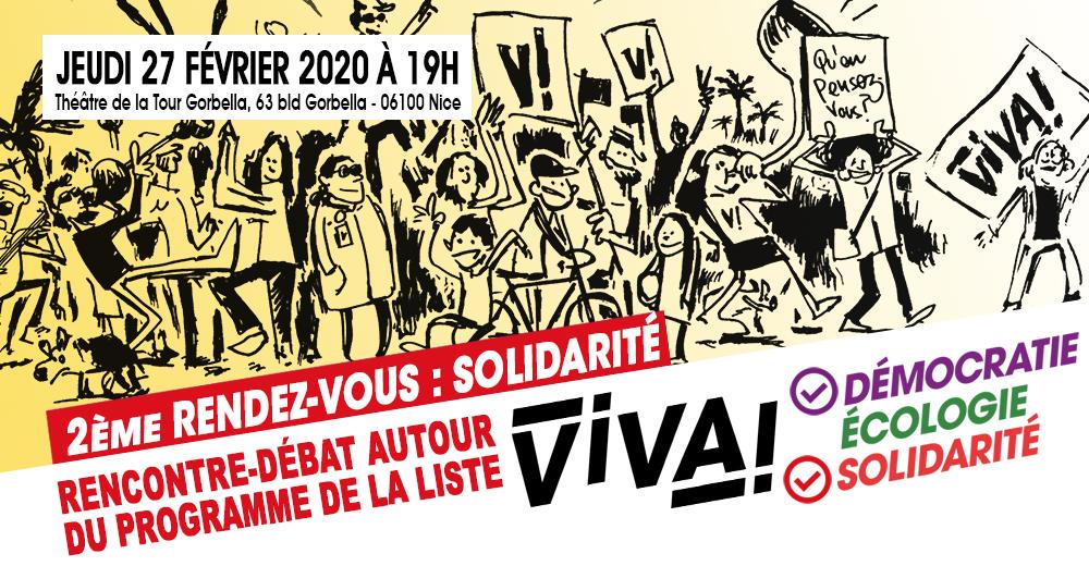 Rencontre-débat autour du programme ViVA! – Solidarité