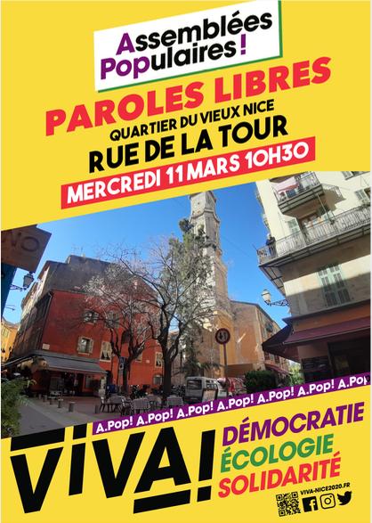 Assemblée Populaire – Vieux Nice